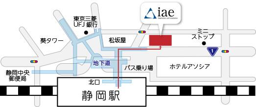静岡駅からの地図