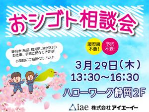 HW静岡 お仕事相談会3/29