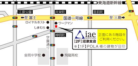 沼津支店地図